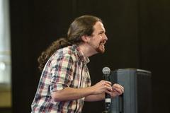 El vicepresidente segundo y líder de Podemos, Pablo Iglesias, en un acto celebrado este lunes en Bilbao.
