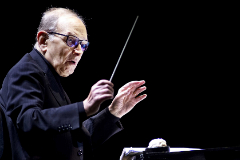 Amsterdam (Italy).- (FILE) - Italian composer Ennio lt;HIT gt;Morricone lt;/HIT gt; conducts songs from '60 Years in Music' at the Ziggo Dome in Amsterdam, The Netherlands, 21 February 2016 (reissued 06 July 2020). Italian composer Ennio lt;HIT gt;Morricone lt;/HIT gt; died on 06 July 2020 at the age of 91. (Países Bajos; Holanda) EPA/ *** Local Caption *** 54746974