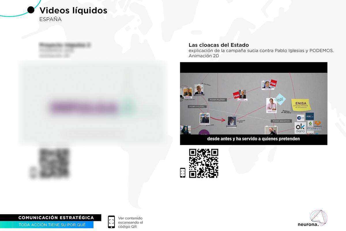 La consultora Neurona presenta la campaña 'Las cloacas del Estado' para Podemos.