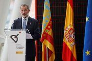 Felipe VI, en la entrega de los Premios Nacionales de Innovación y Diseño 2019, en Valencia,