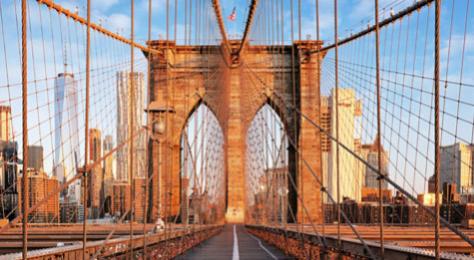 El Puente de Brooklyn de Nueva York.