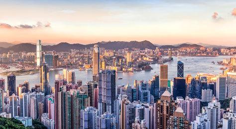 Panorámica de Hong Kong.