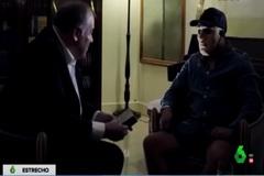 Imagen del narco 'Maxi', durante su entrevista con Ferreras