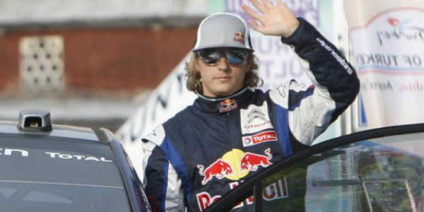 Raikkonen, con el C4 de Citroen.