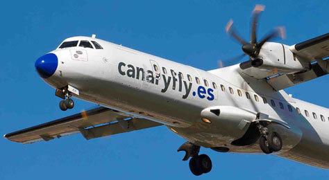 Avión de la compañía Canary Fly.