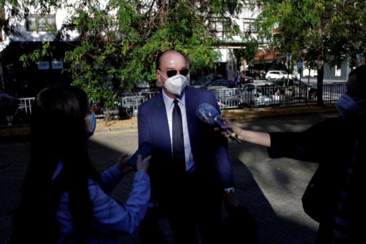Luis Felipe Utrera-Molina, abogado de la familia Franco, a su llegada al juicio.