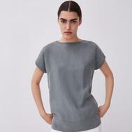 Rebajas 2020 - Camisetas - Gris muy fluida de Adolfo Dominguez