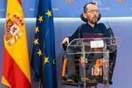 Pablo Echenique, en una rueda de prensa reciente.