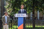 El líder del PP, Pablo Casado, en el acto celebrado el pasado fin de semana en Gernika.