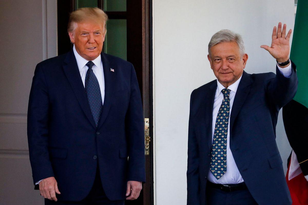 Donald Trump y Andrés Manuel López Obrador, en la Casa Blanca.