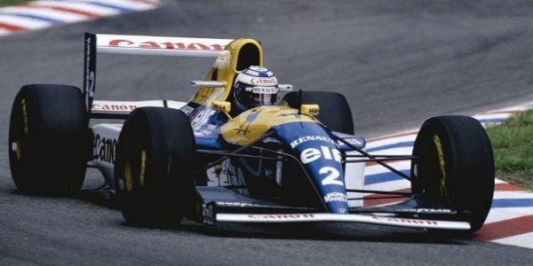 Prost, al volante del FW15C con el que ganó el Mundial de 1993.