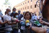 La vicepresidenta primera del Gobierno, Carmen Calvo, este jueves en la Universidad de Salamanca.
