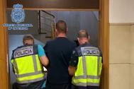 El fugitivo detenido, en una imagen difundida por Interior