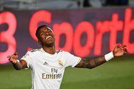 Vinicius, durante un partido del Madrid.