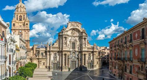 Centro histórico de la ciudad de Murcia.