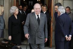Juan Carlos I y la Reina Sofía, en el Congreso, en 2019.