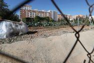 Solar donde estaba previsto construir la residencia pública en Castellón.