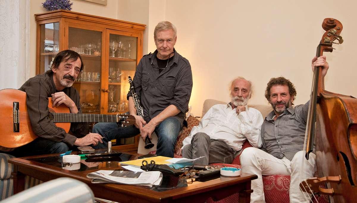 De izq. a dcha., J. López de Guereña, A. Prittwitz, J. Krahe y F. Anguita.
