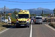 Accidente mortal ocurrido en Mallorca el pasado lunes.