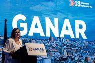 María José Català durante su discurso en el Congreso.