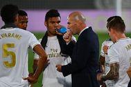 Zidane, durante el partido contra el Alavés.