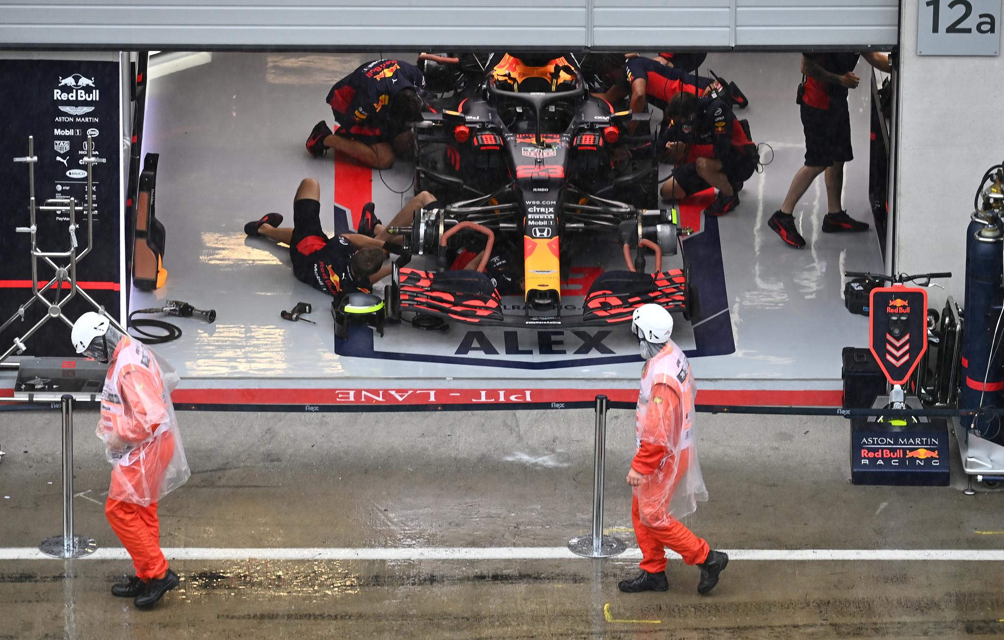 Una lluvia torrencial pone en peligro la clasificación en el Red Bull Ring