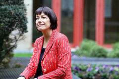 La candidata del BNG a la Xunta de Galicia, Ana Pontón, en un acto electoral.