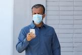 Venezuela's economy vice president lt;HIT gt;Tareck lt;/HIT gt; El lt;HIT gt;Aissami lt;/HIT gt; uses a protective mask at Simon Bolivar International Airport amid the coronavirus disease (COVID-19) outbreak in Caracas