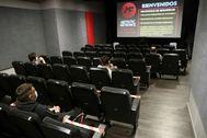 Cine con aforo reducido en Madrid.