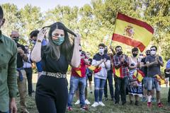Macarena Olona en un acto de Vox