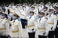 Los nuevos comisarios de la Policía Municipal.