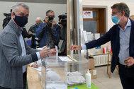 Urkullu y Núñez Feioó votan en estas elecciones vascas y gallegas.