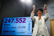 Maddalen Iriarte celebra los resultados.