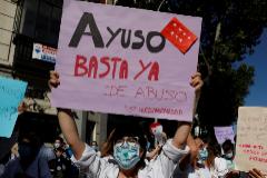 Manifestación de Médicos Internos Residentes de Madrid.