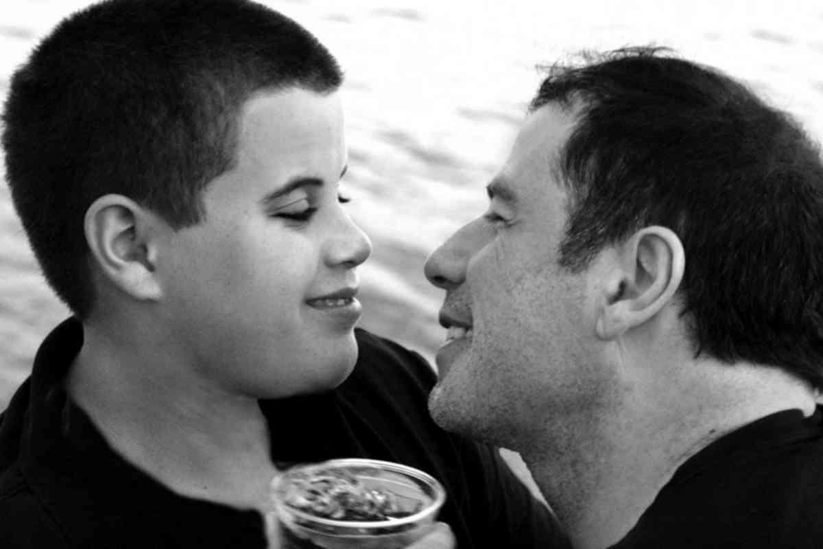 Travolta y su hijo, Jett, que falleció en 2009 a los 16 años.