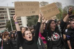 Manifestación contra la primera sentencia de 'La Manada', en Pamplona.