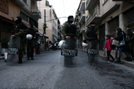 Operación policial en el barrio de Exarchia (Atenas).