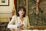 La fiscal general del Estado Dolores Delgado en la sede de la Fiscalía General.
