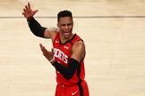 Westbrook, durante un partido ante los Knicks, el pasado marzo.