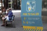 Cartel informativo en L'Hospitalet de Llobregat.