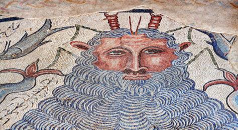 Mosaico del parque arqueológico de Carranque (Toledo).