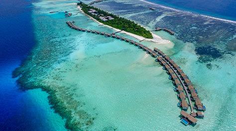 Panorámica aérea de The Residence Maldives.