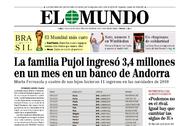 Portada de EL MUNDO del 7 de julio de 2014, revelando los movimientos de dinero de la familia Pujol.