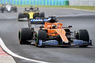 Sainz, con el MCL-35, durante el GP de Hungría.