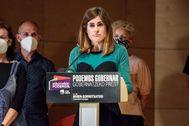 Miren Gorrotxategi analiza los resultados electorales de Podemos durante la jornada electoral el pasado día 12J.