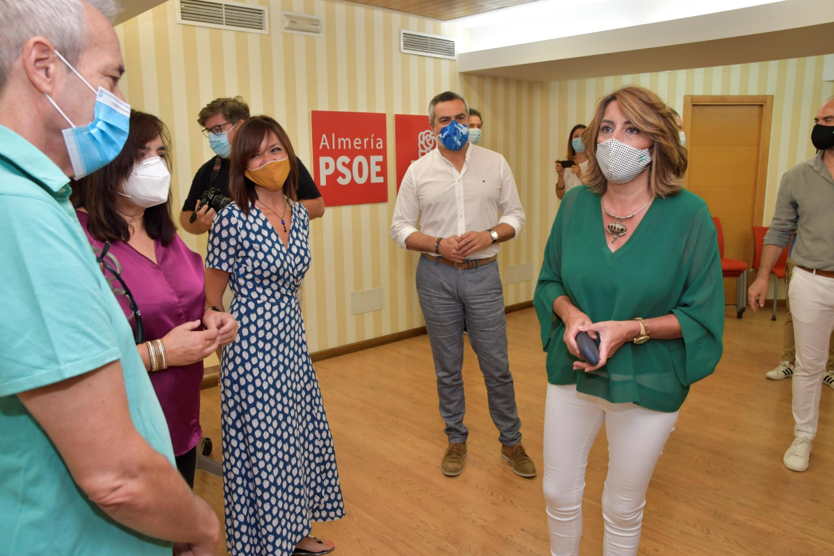 La socialista Susana Díaz, este lunes en Almería.