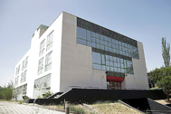 El edificio que alojó a la Fundación Ideas, en la calle Gobelas de El Plantío (Madrid).