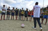 Equipo de fútbol formado por menores no acompañados de Rubí.