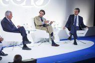 Los ex presidentes del Gobierno Felipe González, José María Aznar y José Luis Rodríguez Zapatero.