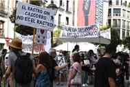 Protesta de los comerciantes de El Rastro.